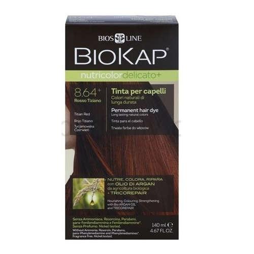 BIOKAP nutricolor DELICATO - farba do włosów, 8.64 Tycjanowska Czerwień, 140ml