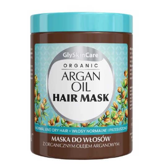 GlySkinCare ORGANIC ARGAN OIL HAIR MASK - maska do włosów z organicznym olejem organowym, 300ml